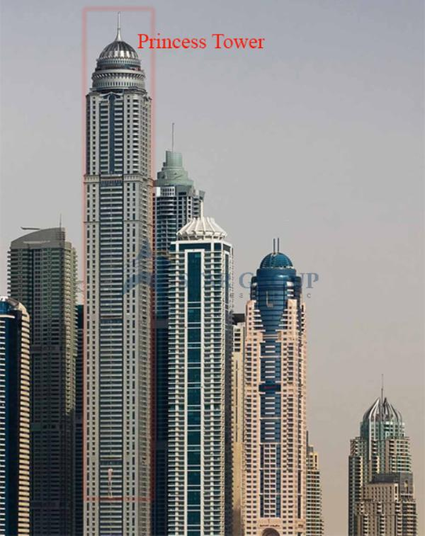 Princess Tower, 2 Br Fully Furnished, Sea And Marina View For Rent Aed 165k